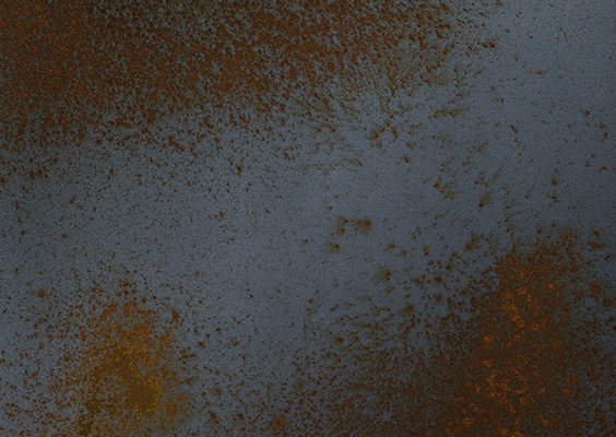 Rusted iron finish swatch