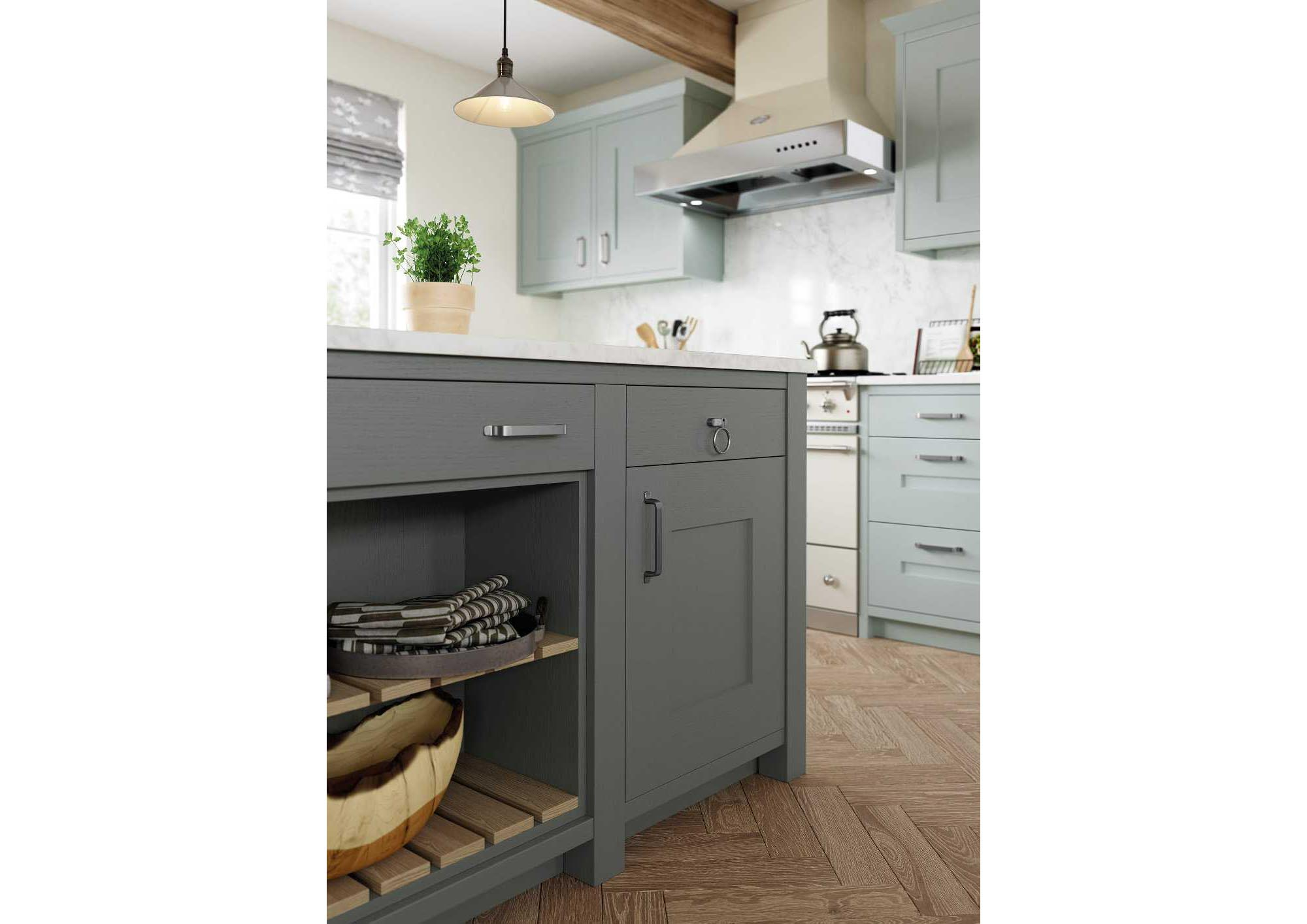 Contemporary in-frame shaker style kitchen picture 5