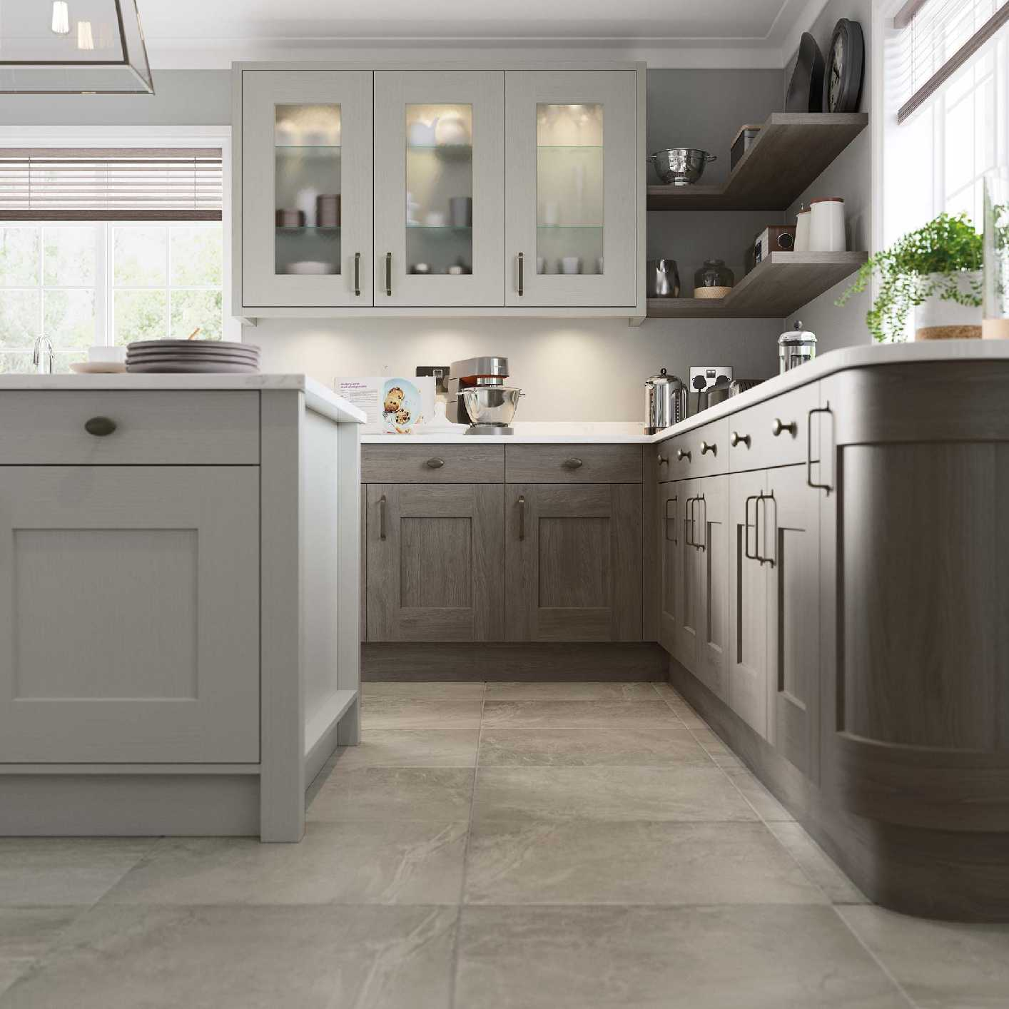 Contemporary shaker style kitchen stone paint and anthracite stain picture 4
