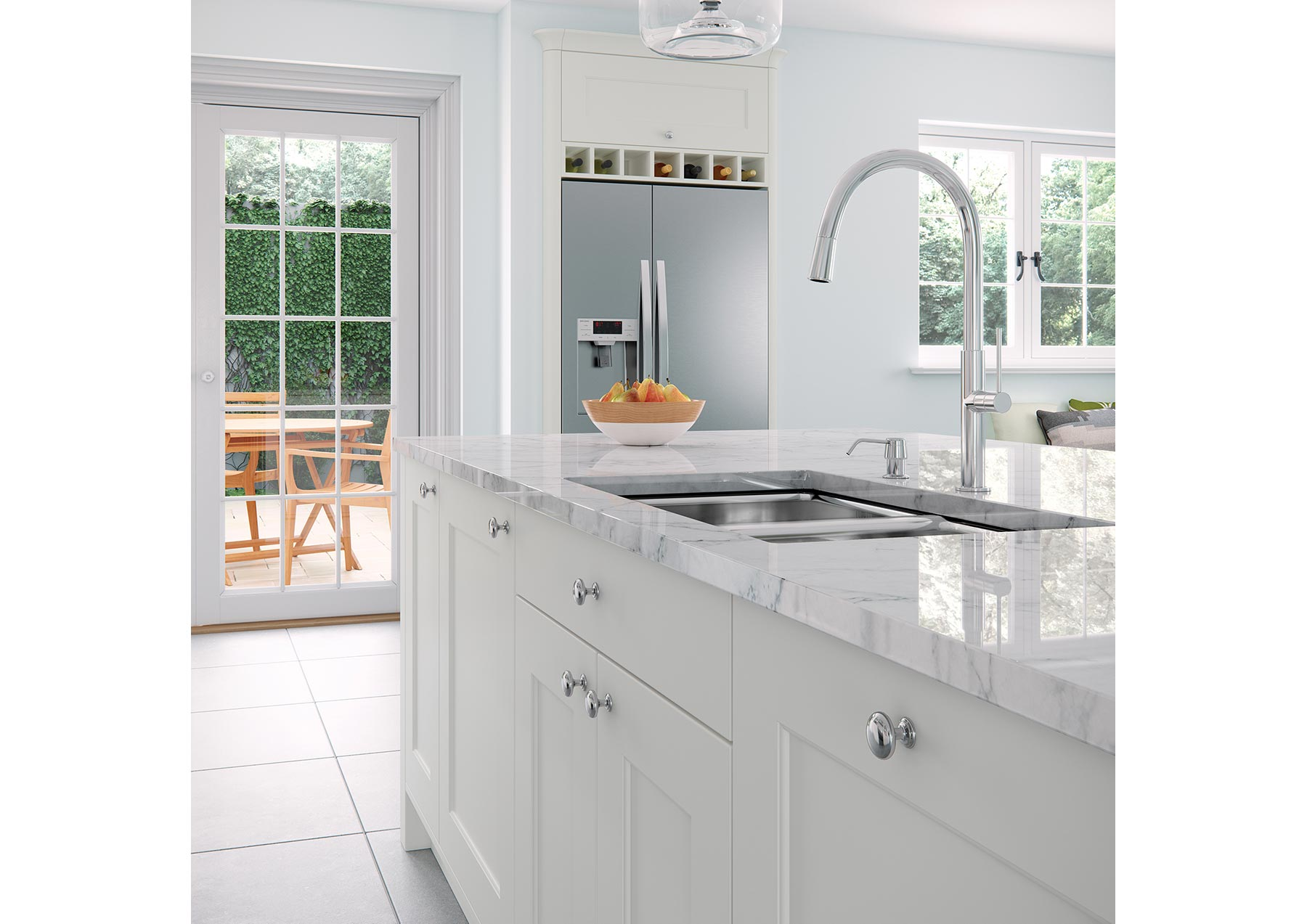 Grey Shaker Style Contemporary Kitchen Og Kitchens