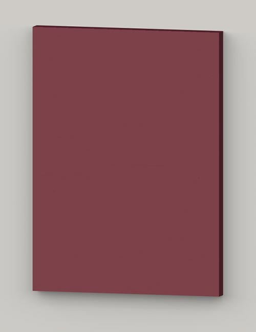 Special horizontal birch veneer flat door - cranberry tbp85