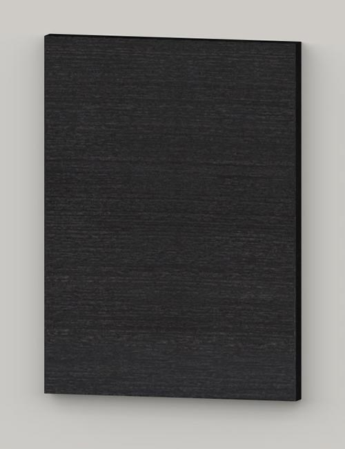 Special horizontal birch veneer flat door - oiled black grey tbm82
