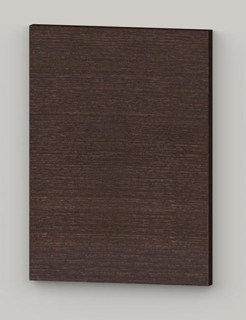 Special horizontal birch veneer flat door - oiled dark brown tbm82