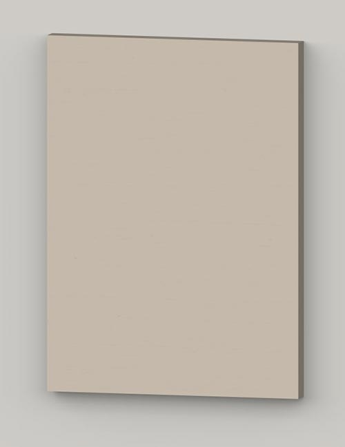 Special horizontal birch veneer flat door - vanilla cream tbp27