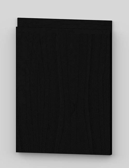 Vertical birch veneer j-pull flat door - black b49