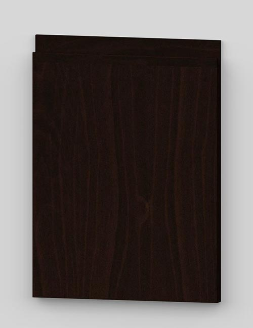 Vertical birch veneer j-pull flat door - dark brown b31