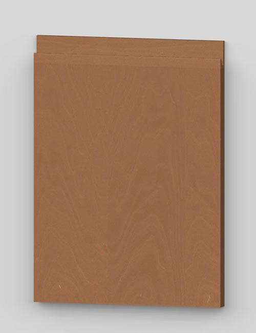 Vertical birch veneer j-pull flat door - hazel b3