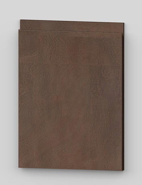 Vertical birch veneer j-pull flat door - lacquered dark brown b82