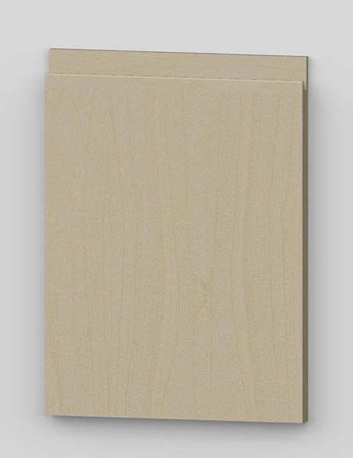 Vertical birch veneer j-pull flat door - oiled bm0