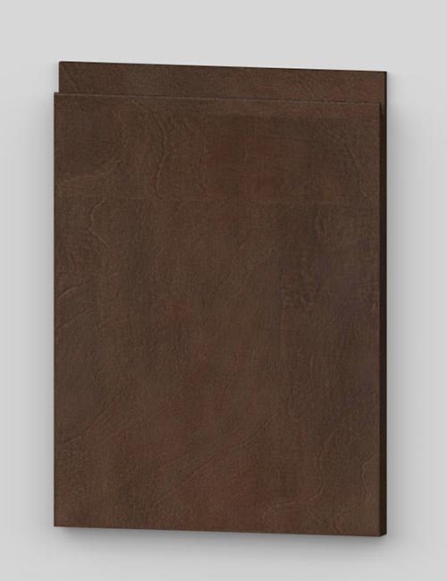 Vertical birch veneer j-pull flat door - oiled dark brown bm82