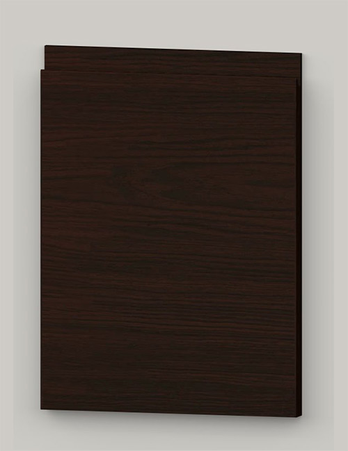 TP21SY horizontal oak veneered door with J pull handle - dark brown k31