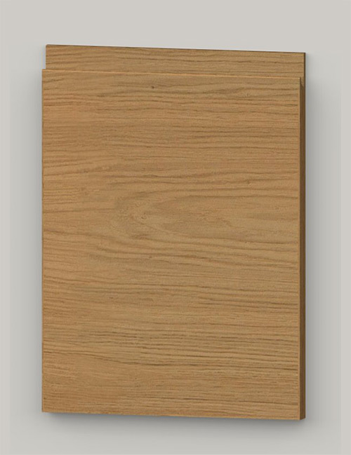 TP21SY horizontal oak veneered door with J pull handle - oiled km0