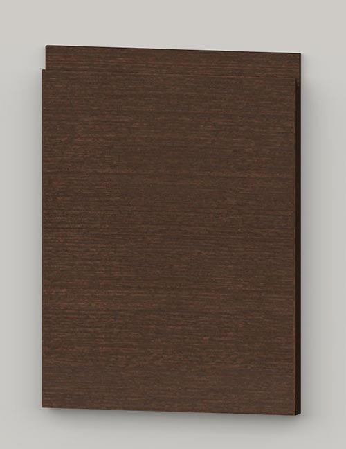 Special horizontal veneered birch j-pull door - dark brown tb31
