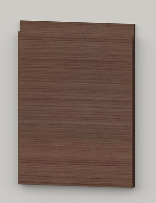 Special horizontal veneered birch j-pull door - french walnut tb19