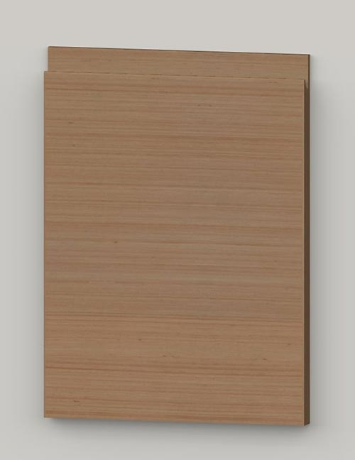 Special horizontal veneered birch j-pull door - hazel tb3