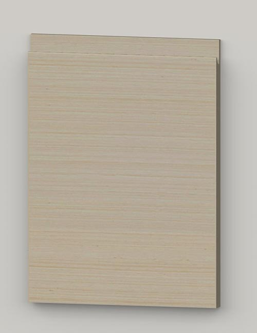 Special horizontal veneered birch j-pull door - lacquered tb1