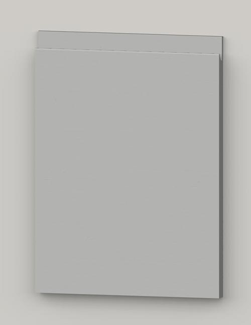 Special horizontal veneered birch j-pull door - light grey tb37