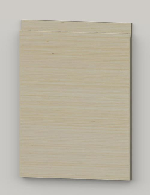 Special horizontal veneered birch j-pull door - oiled tbm0