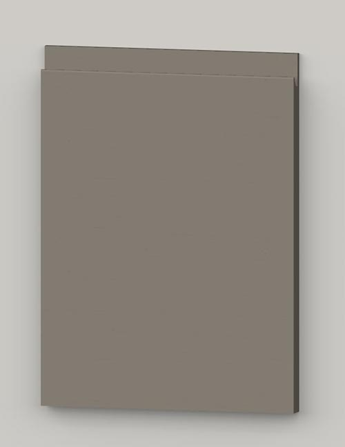 Special horizontal veneered birch j-pull door - stone grey tb36