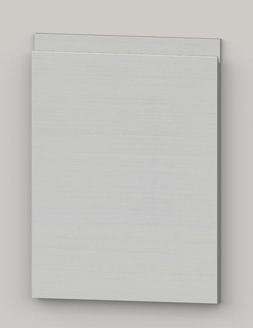 Special horizontal veneered birch j-pull door - transluscent white tb11