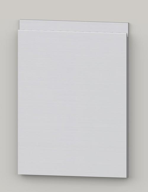 Special horizontal veneered birch j-pull door - white tb50