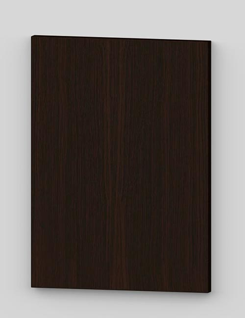 Oak vertical veneer flush door with osb core - dark brown k31
