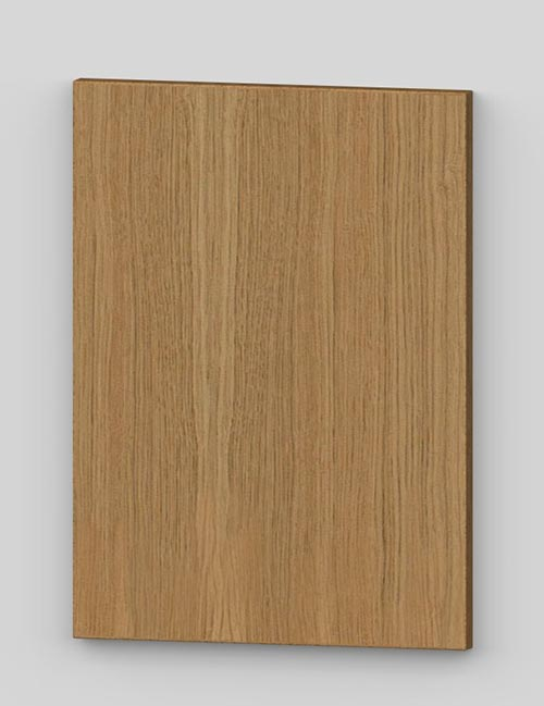 Oak vertical veneer flush door with osb core - oiled km0
