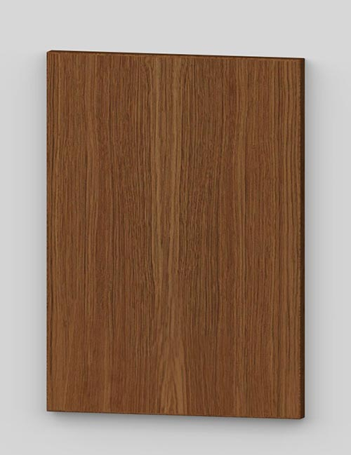 Oak vertical veneer flush door with osb core - rustic k8