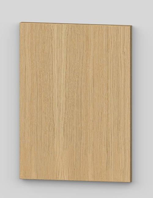 Oak vertical veneer flush door with osb core - untreated k00