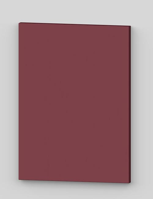 Vertical birch veneer flush door - cranberry tbp85