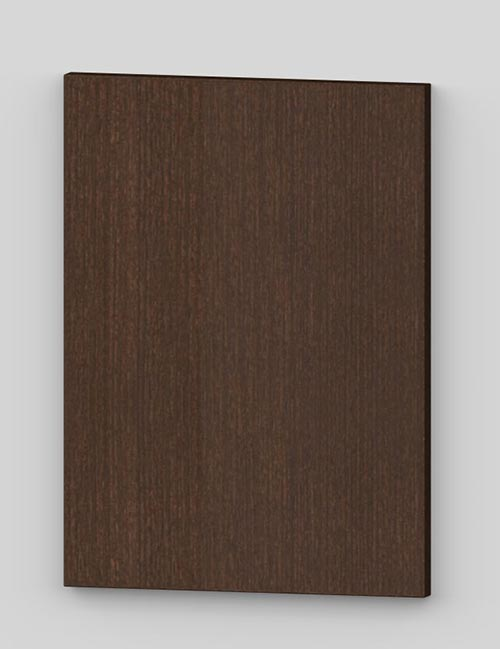 Vertical birch veneer flush door - dark brown tb31