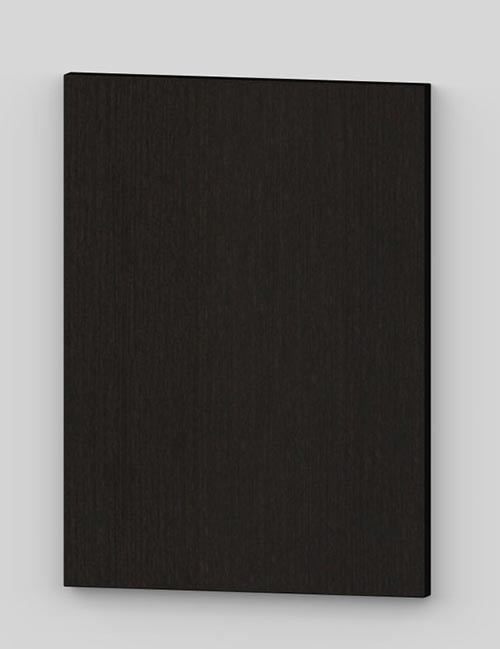 Vertical birch veneer flush door - dark chocolate tb33