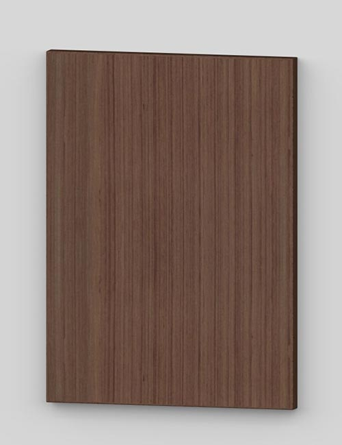 Vertical birch veneer flush door - french walnut tb19
