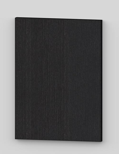 Vertical birch veneer flush door - lacquered black grey tb88