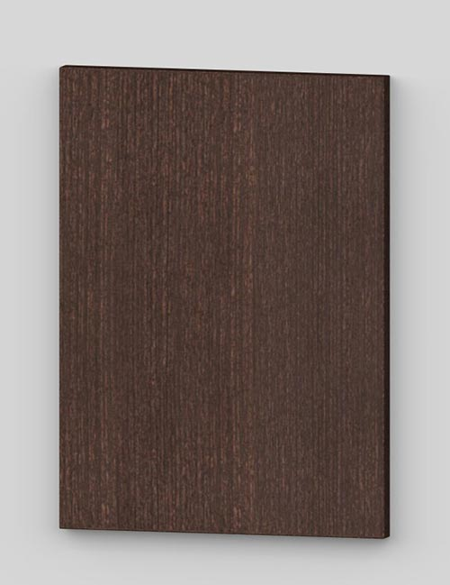 Vertical birch veneer flush door - lacquered dark brown tb82