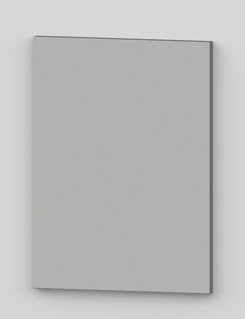 Vertical birch veneer flush door - light grey tbp37