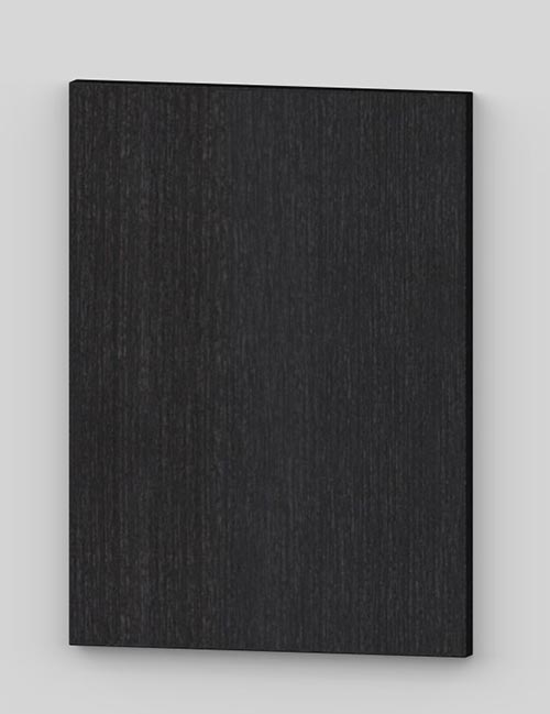 Vertical birch veneer flush door - oiled black grey tbm88