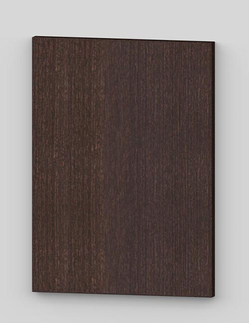 Vertical birch veneer flush door - oiled dark brown tbm82