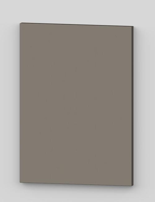 Vertical birch veneer flush door - stone grey tbp36
