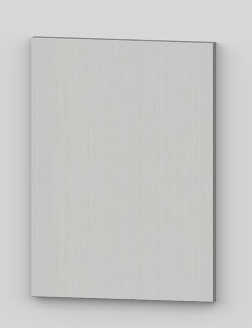Vertical birch veneer flush door - transluscent white tb11