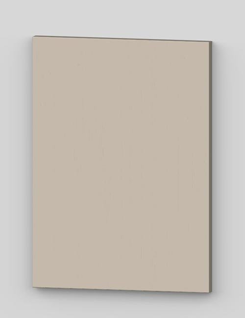 Vertical birch veneer flush door - vanilla cream tbp27