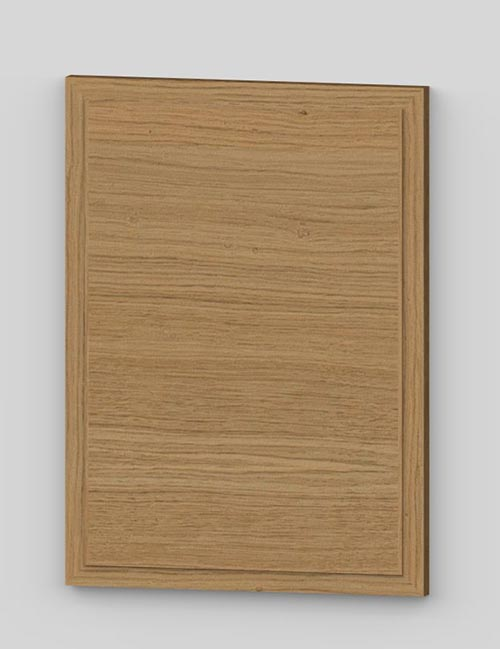 Raise panel vertical oak veneered door with wood edge - lacquered k0