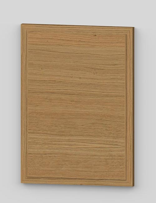 Raise panel vertical oak veneered door with wood edge - oiled km0