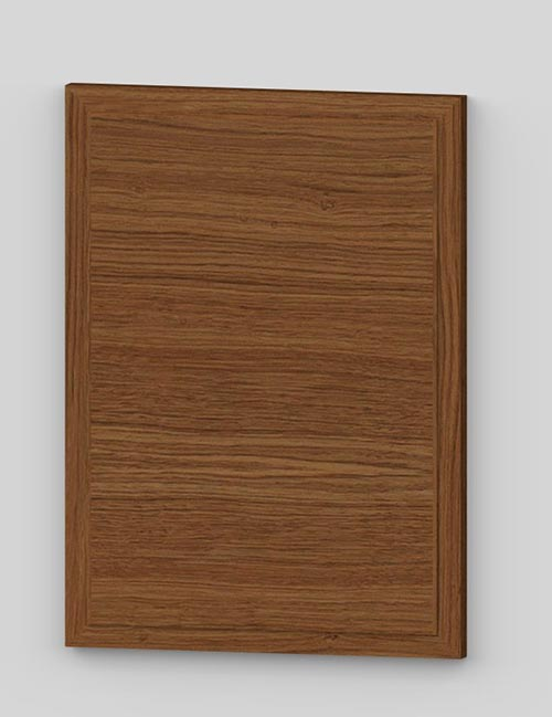 Raise panel vertical oak veneered door with wood edge - rustic k8