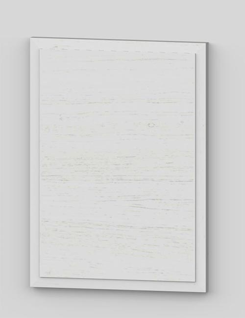 Raise panel vertical oak veneered door with wood edge - white k50