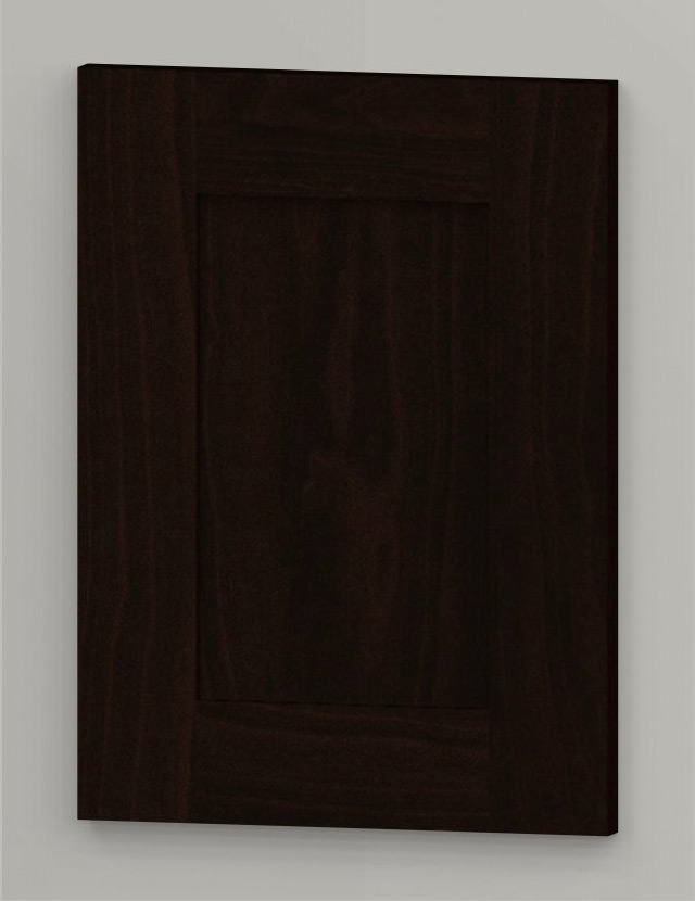 WS21 birch frame shaker door - dark brown b21
