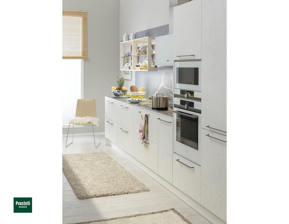 Puustelli Miinus Ecological Kitchen Units Arctic White FosbART Doors