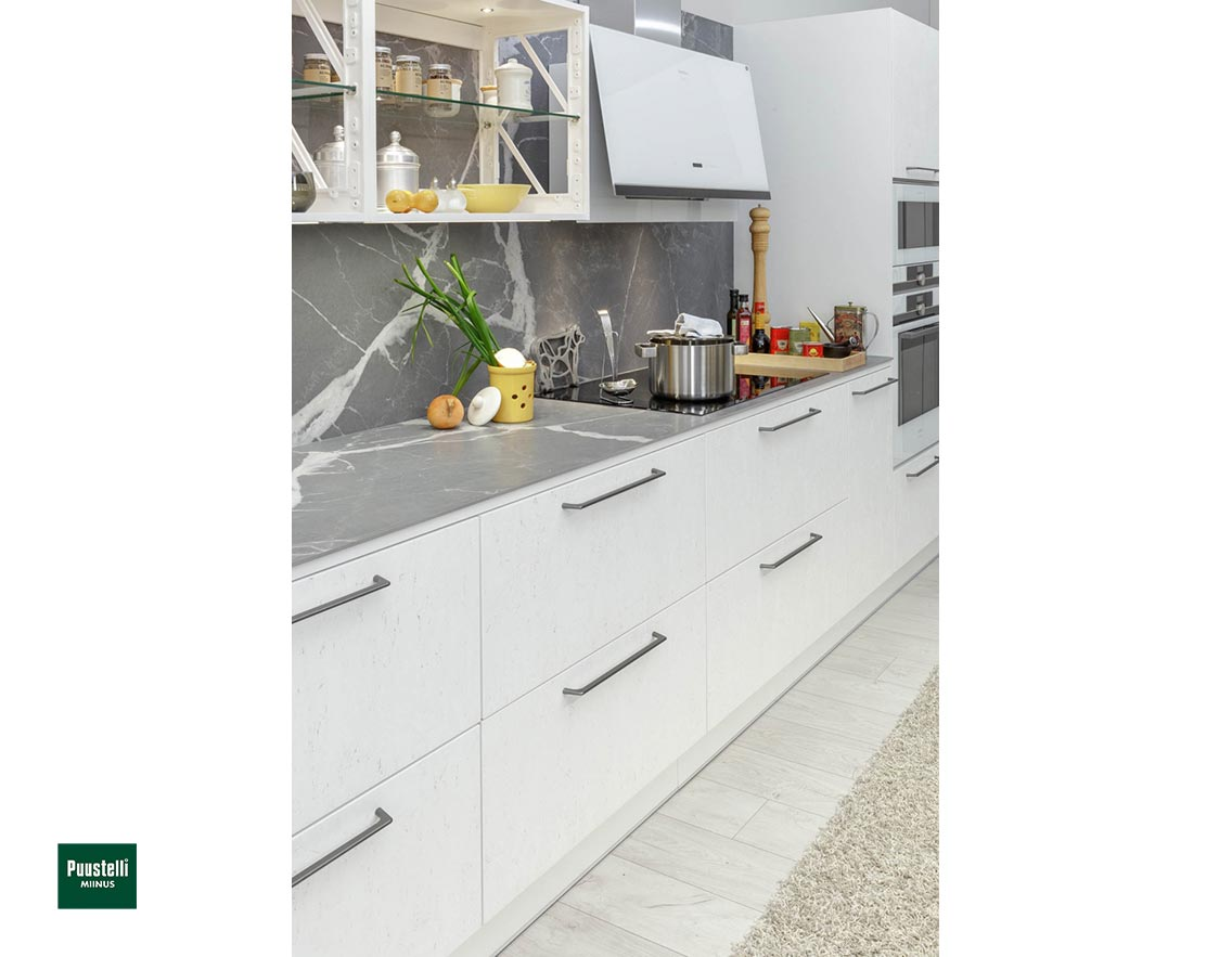 Puustelli Miinus Ecological Kitchen Drawers Arctic White FosbART Doors