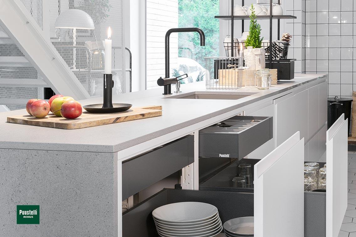 Miinus Eco Friendly Handleless Modern Kitchen