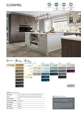 Shaker style kitchen door information sheet thumbnail